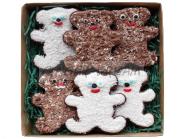 Сладкие подарки детские | Наборы пряников «Имбирные медвежата»